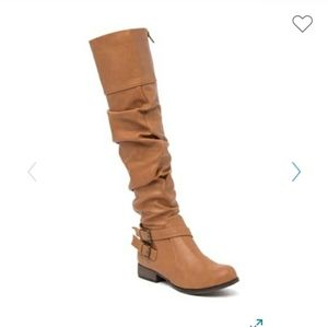 Chase & Chloe Maggy Knee-High Riding Boot  N31J